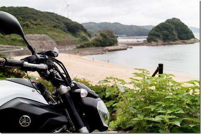 鷹島、白浜海水浴とバイクツーリング