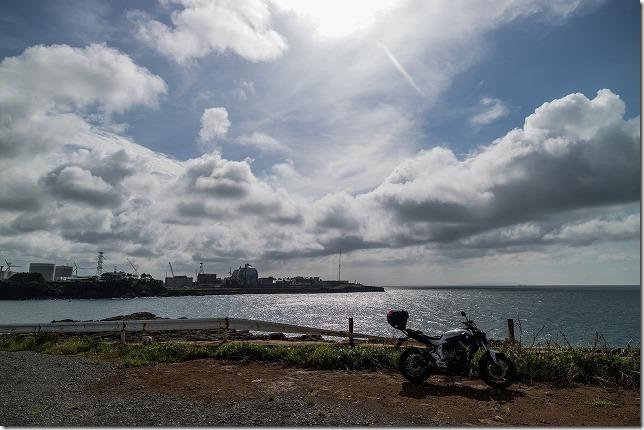玄海原発とバイク