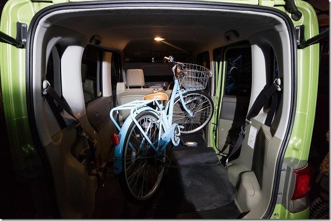 タント、L375Sに自転車を積んだ