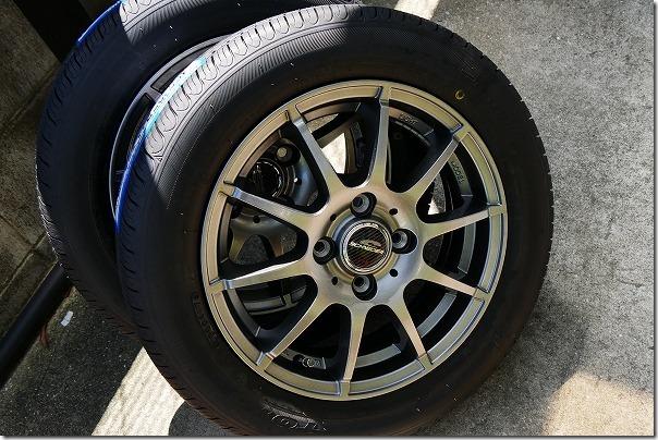 タントの交換用ホイールとタイヤ