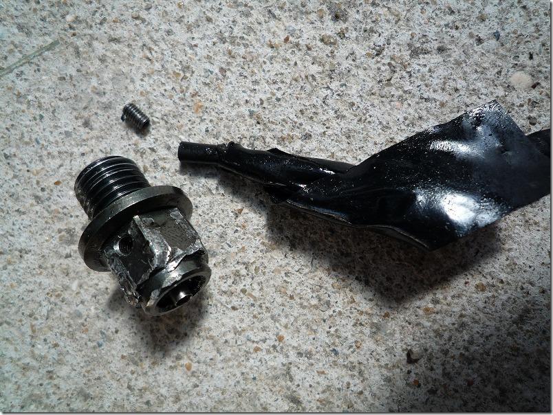 APE100に使用してアルミドレンボルト破損