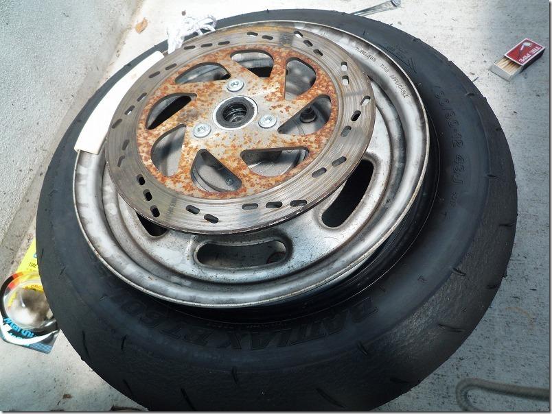 APE100タイヤ交換(組み込み)、タイヤ交換作業7