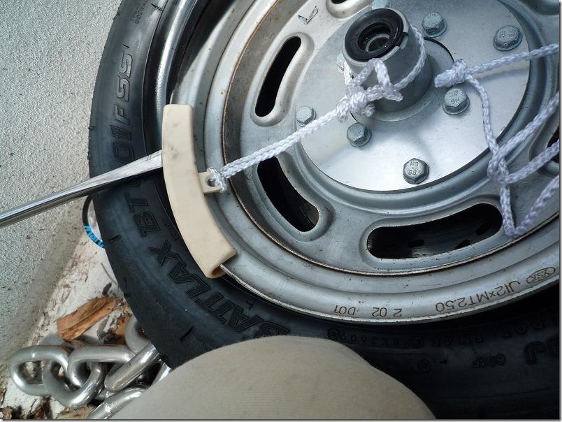 APE100タイヤ交換(組み込み)、タイヤ交換作業9
