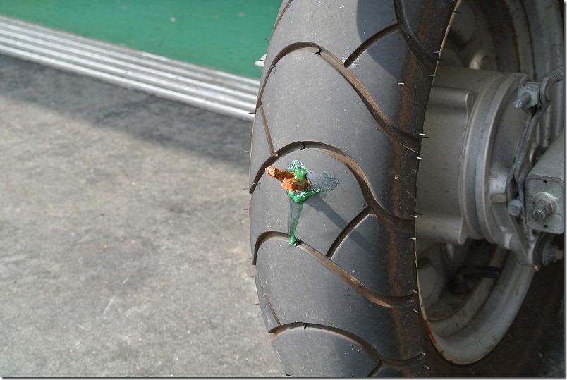 バイクのパンク修理代