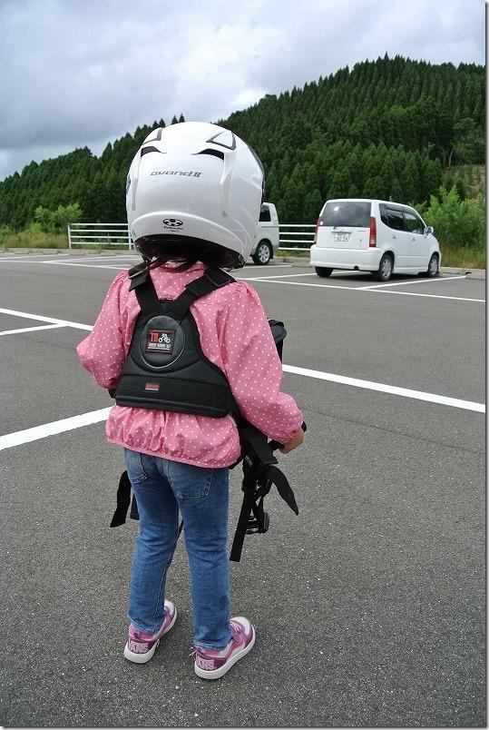 5歳の子供にヘルメット