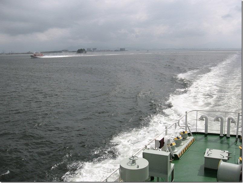 壱岐ツーリング、博多港からフェリー乗船、ビーナス
