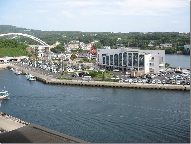ビューホテル壱岐宿泊、郷ノ浦港