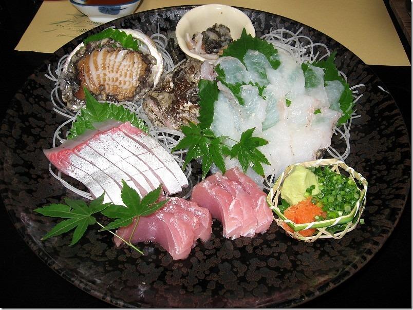 ビューホテル壱岐宿泊で夕食・刺盛り