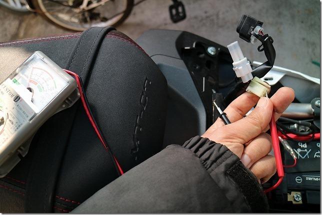 MT-07 シガーソケット、USBの電源