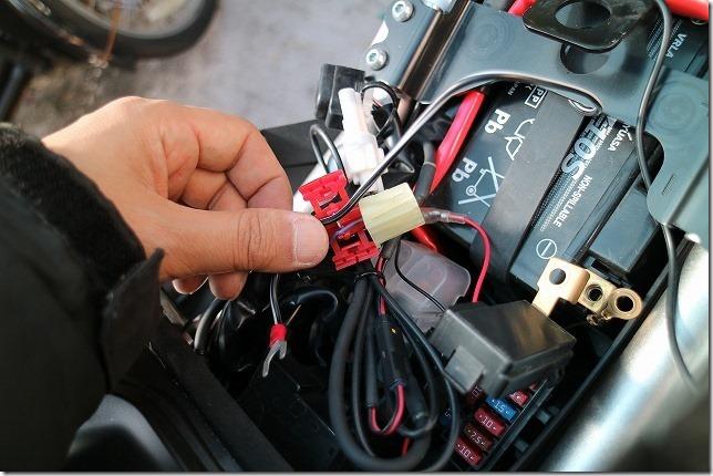 MT-07 シガーソケット、USBの電源接続