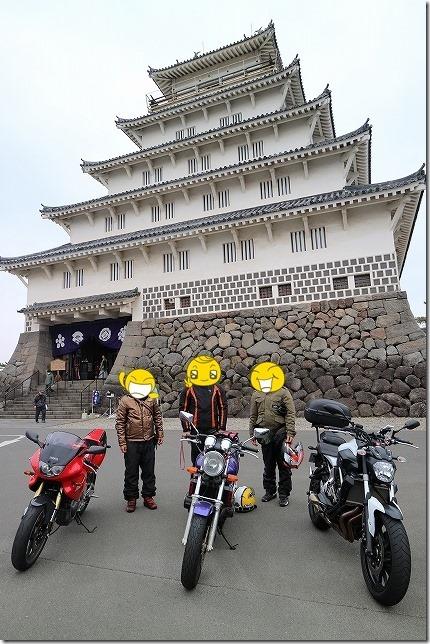 島原城とバイク