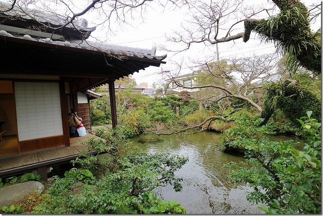 島原 四明荘の湧水庭園