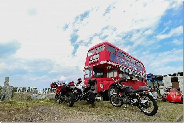糸島ツーリング、ロンドンバスとバイク