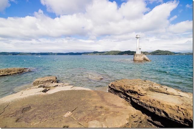 福島、初崎海水浴場の灯台