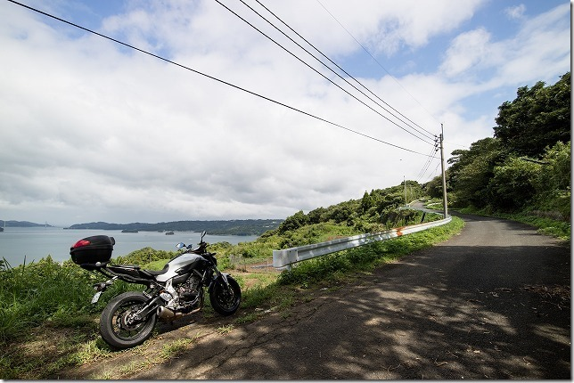 福島ツーリング、大山展望台