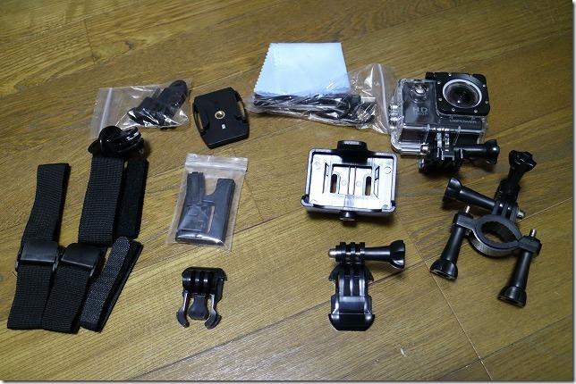 バイクに使用したアクションカメラ