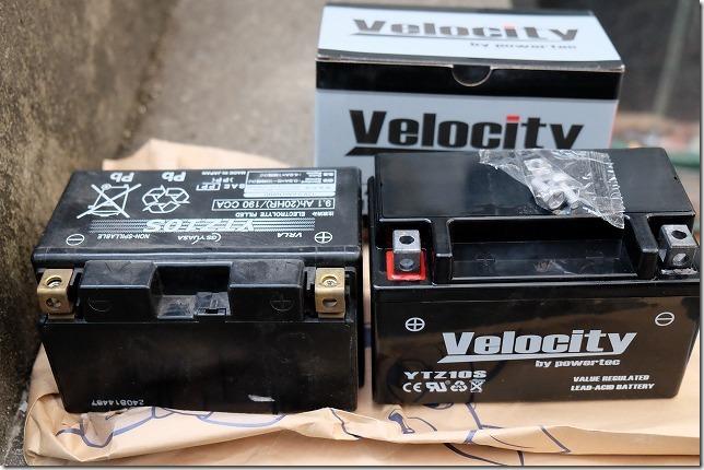 MT-07バッテリー交換、手順4