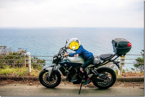 糸島海岸線でタンデムツーリング