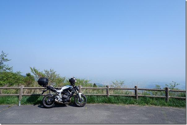 天山展望台をツーリング