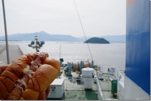 唐津東~壱岐へのフェリーの船旅、朝食