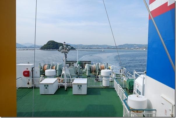 唐津東~壱岐へのフェリーの船旅、外海へ