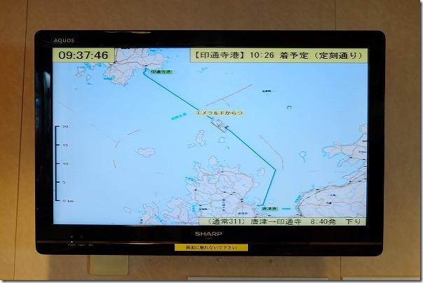 唐津東~壱岐へのフェリーの船旅モニター