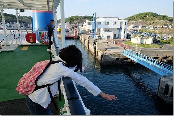 唐津東~壱岐へのフェリーの船旅、壱岐到着