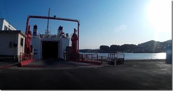 壱岐、印通寺からバイクでフェリー乗船