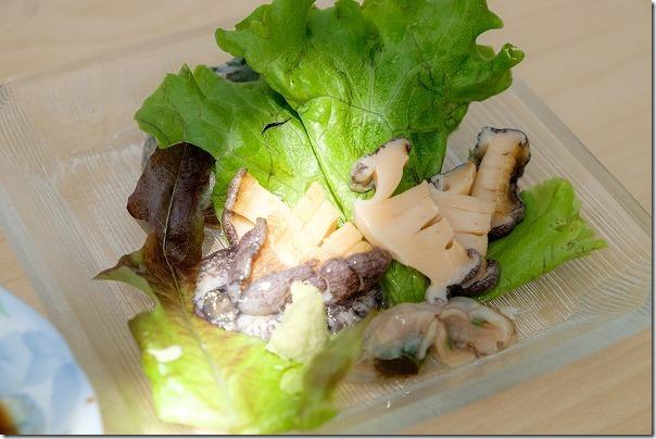 壱岐、レストランしおかぜ、アワビの刺身