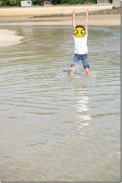 壱岐日帰りタンデムツーリング、ツインビーチで水遊び