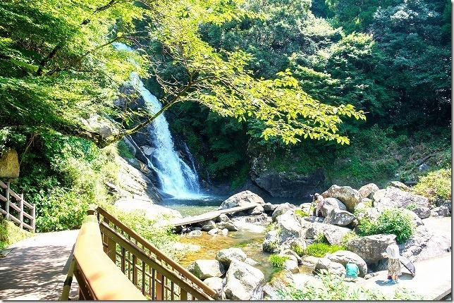 真夏の見帰りの滝