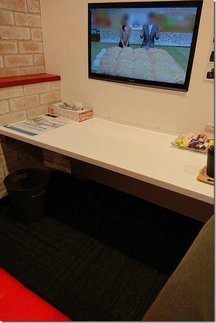 マッハ車検陣原店の待合室(バイク車検で利用)