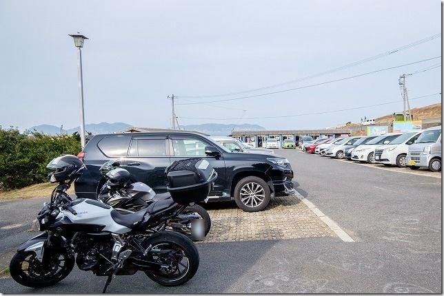 呼子・波戸岬で「さざえのつぼ焼き」と「イカ焼き」、バイクで