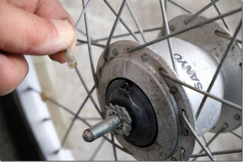 自転車のフロントタイヤ交換手順6