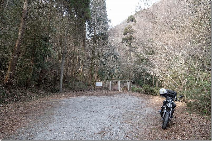 「くじゅう」清滝ソロツーリング、駐車場
