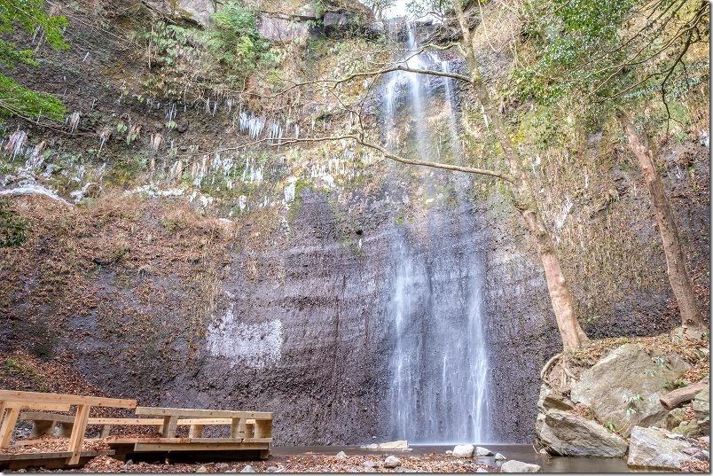 冬の「くじゅう」清滝、氷柱