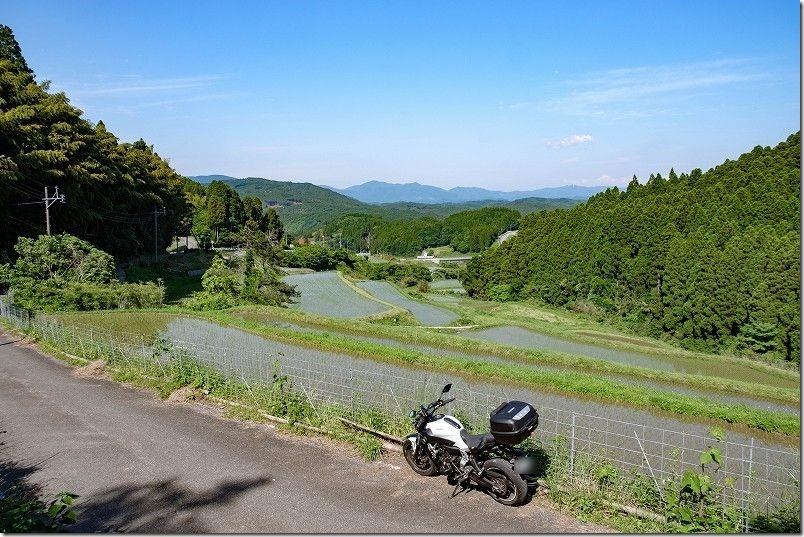 佐賀市富士町、西の谷の棚田を散策ツーリング