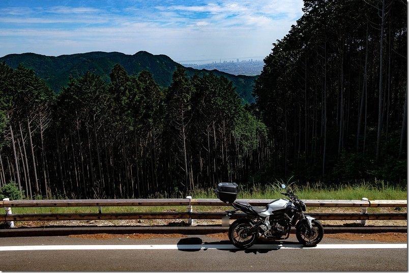 三瀬旧道から林道を散策ツーリング、福岡市街を一望