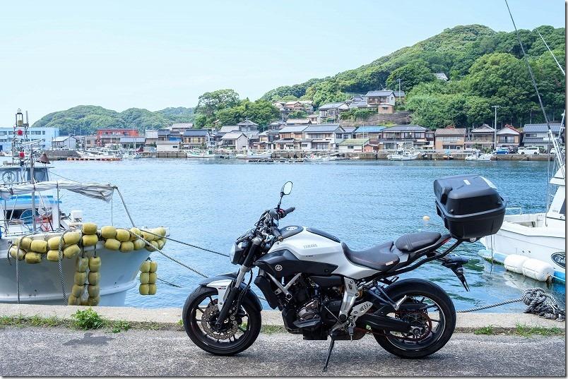 佐賀県唐津市肥前町、高串温泉の漁港