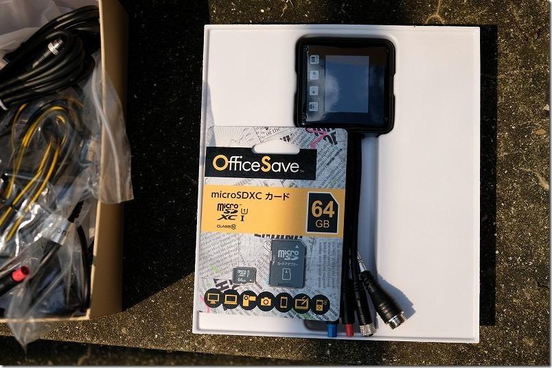 バイク用ドライブレコーダーVSYSTO/P6FのSDカード