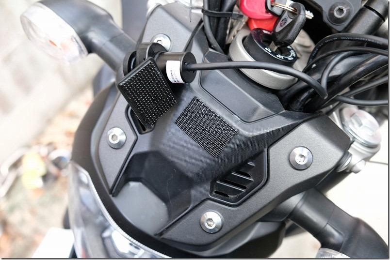 MT-07にドライブレコーダーを取り付け(フロントカメラ取り付け)