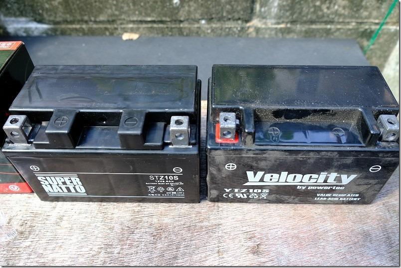 MT-07のバッテリー交換