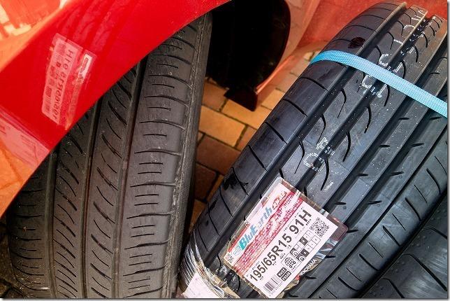 プレマシーの新旧タイヤを比較