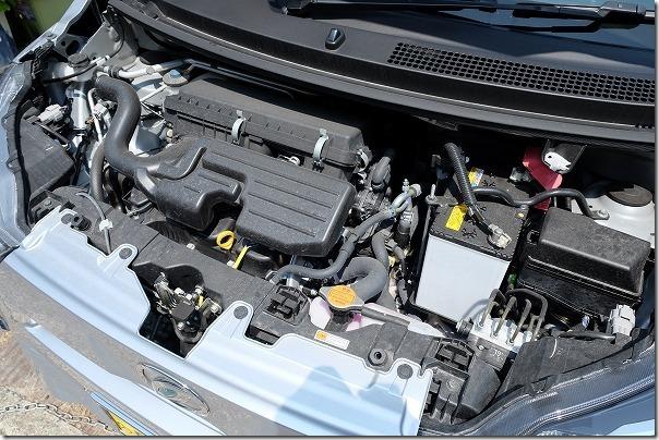 新型ミライースのエンジン