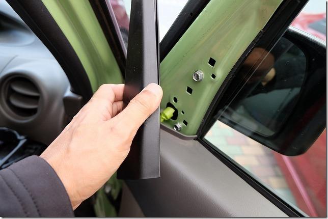 タント、フロントドアの内張り嵌め方(戻し手順)ツイッター