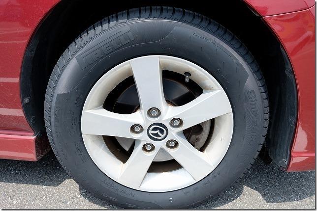 今回使用したタイヤはピレリ,P6,プレマシー